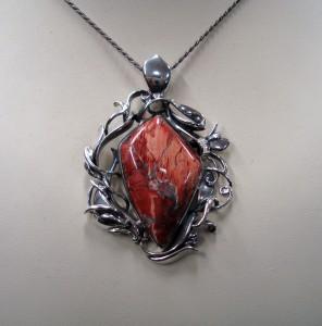 Яспис Брегча – медальон – N546 | Brecciated Jasper – pendant – N546