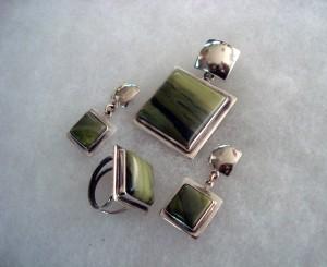 Зелен яспис – комплект – N565 | Green Jasper – set – N565