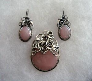 Розов кварц – комплект – N566 | Pink quartz – set – N566