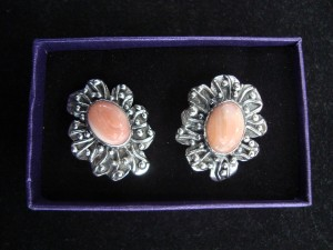 Родонит – обеци – N443 | Rhodonite – earrings – N443