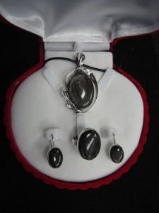Сребрист Обсидиан Мексико – комплект – N559 | Silver Obsidian Mexico – set – N559