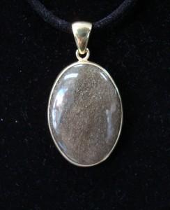 Златист Обсидиан Мексико – медальон – N445 | Golden Obsidian Mexico – pendant – N445