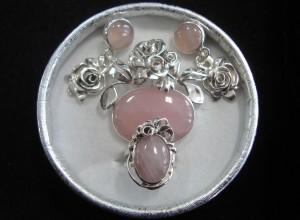 Розов Кварц – комплект – N575 | Pink Quartz – set – N575