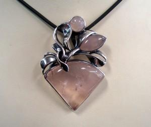 Розов Кварц – медальон – N589 | Pink Quartz – pendant – N589