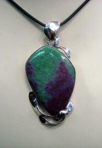 Рубин Цоизит – медальон – N594   Ruby Zoisite – pendant – N594