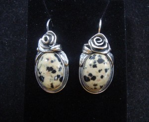 Леопардов Яспис – обеци – N600 | Leopard Jasper – earrings – N600