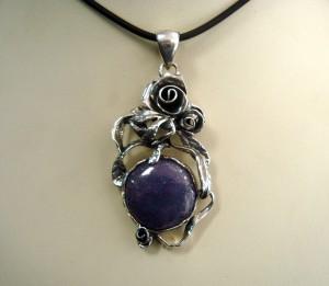 Лепидолит – медальон – N605 | Lepidolite – pendant – N605