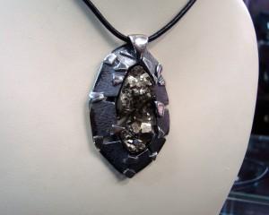 Пирит –  медальон – N627 | Pyrite – pendant – N627