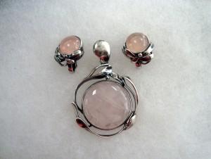 Розов кварц – комплект – N628 | Pink quartz – set – N628