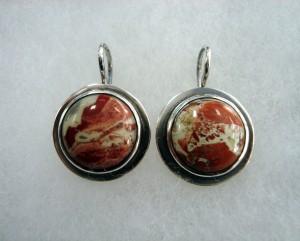 Яспис Брегча – обеци – N633 | Brecciated Jasper – earrings – N633