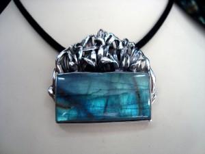 Лабрадорит – медальон – N638 | Labradorite – pendant – N638