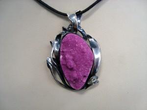 Кобалтокалцит Заир – медальон – N667   Cobaltocalcite Zair – pendant – N667