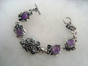 Аметист – гривна – N672 | Amethyst – bracelet – N672