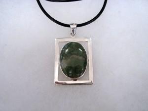 Мъхов Ахат – медальон – N678 | Moss Agate – pendant – N678