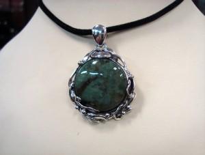 Мъхов Ахат България – медальон – N681 | Moss Agate Bulgaria – pendant – N681