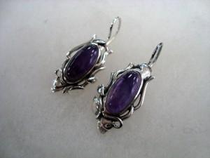 Аметист – обеци – N652 | Amethyst – earrings – N652