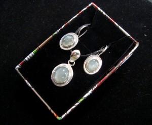 Лунен камък – комплект – N654 | Moonstone – set – N654
