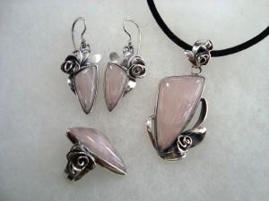 Розов кварц Бразилия – комплект – N657 | Pink Quartz Brasil – set – N657
