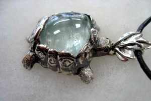 Аквамарин – медальон – N663   Aquamarine – pendant – N663