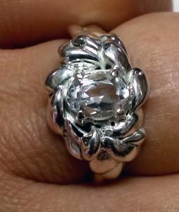 Аквамарин, фасетиран – пръстен – N698