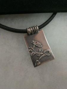Мъжки медальон – цирконий, сребро – N717