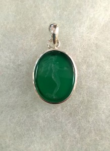 Зелен Ахат Гема – медальон – N727