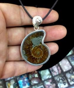 Фосил Амонит – медальон – N730