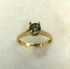 Сапфир, злато – пръстен – N755